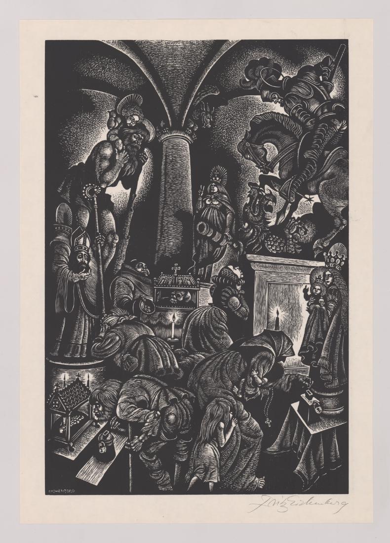 Fritz Eichenberg Woodcut - 2