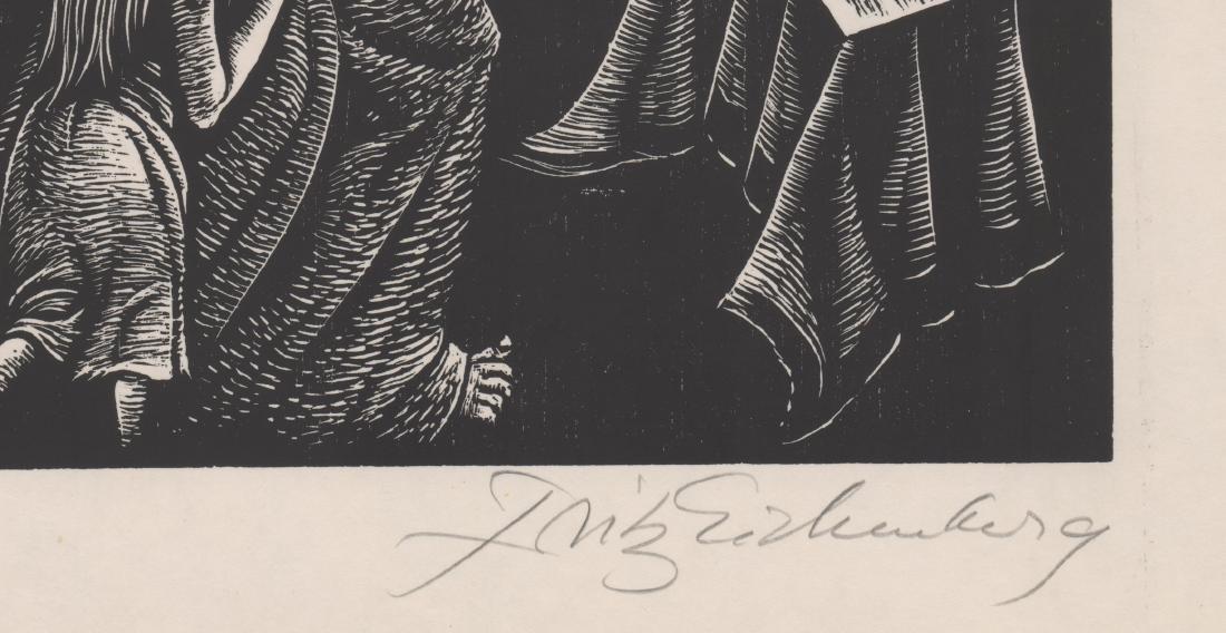 Fritz Eichenberg Woodcut - 3