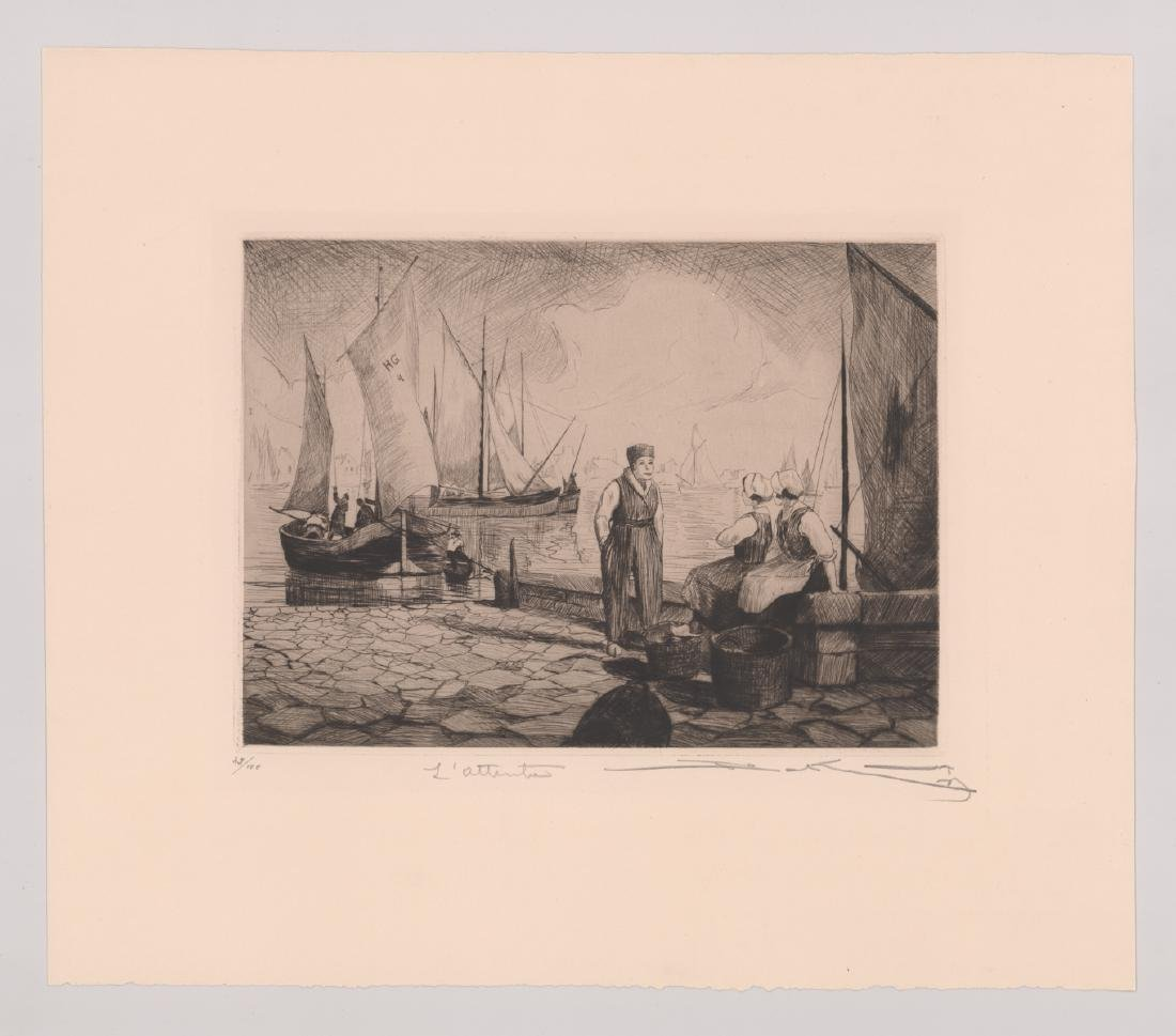 A Fine Signed Etching - 2