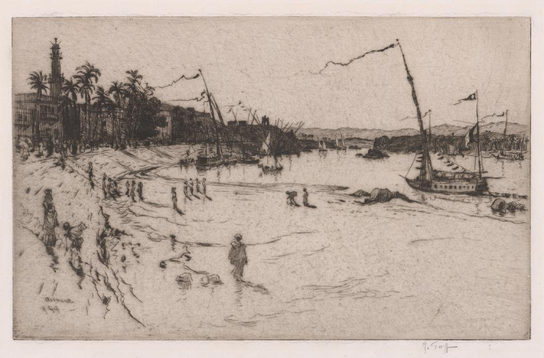 Robert Charles Goff Pencil Signed Etching