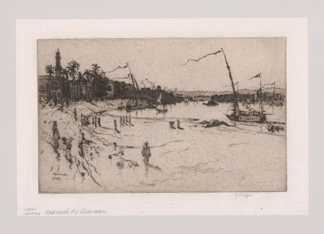 Robert Charles Goff Pencil Signed Etching - 2