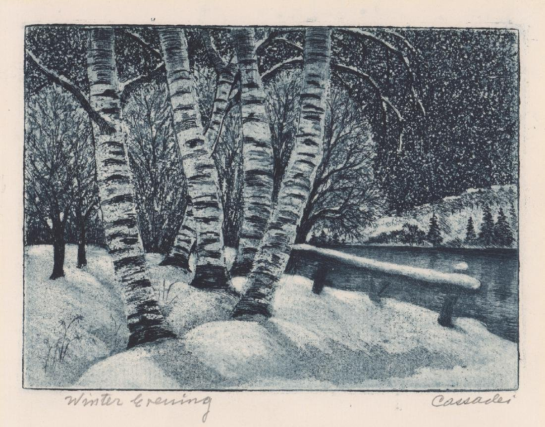 Cassadei Pencil Signed Etching