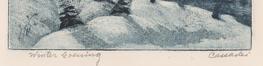 Cassadei Pencil Signed Etching - 3
