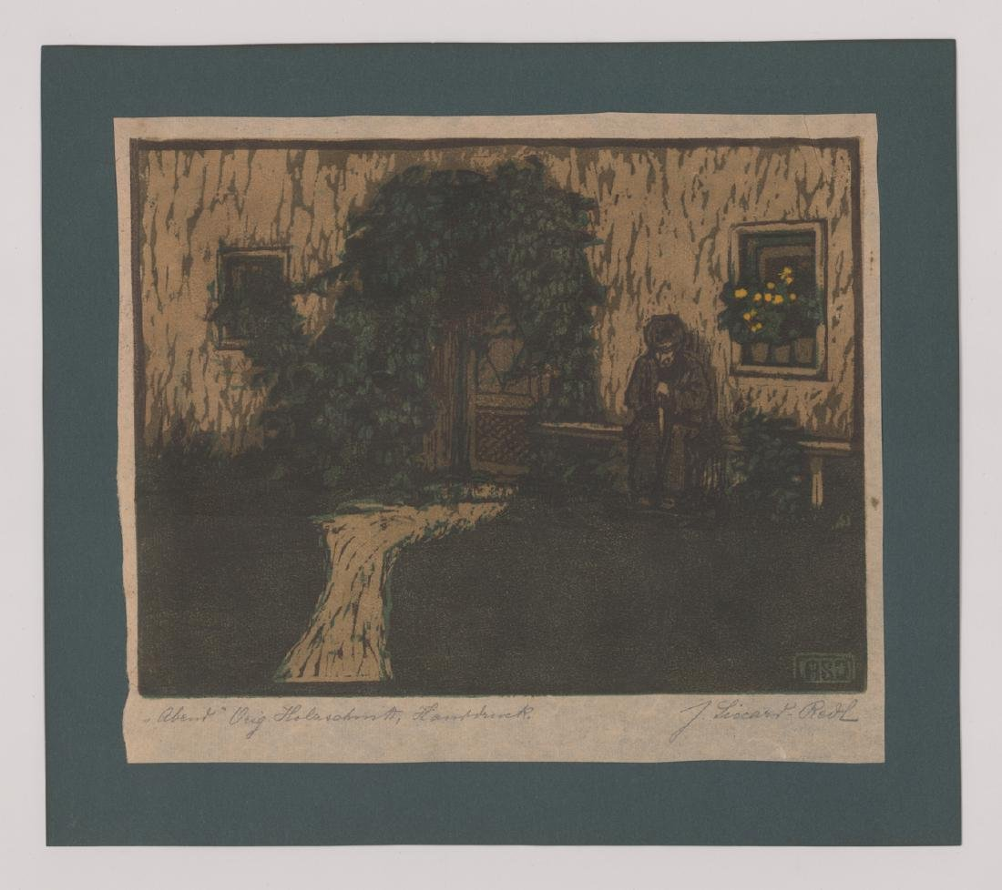 A German Signed Woodcut - 2
