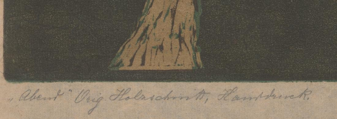 A German Signed Woodcut - 4