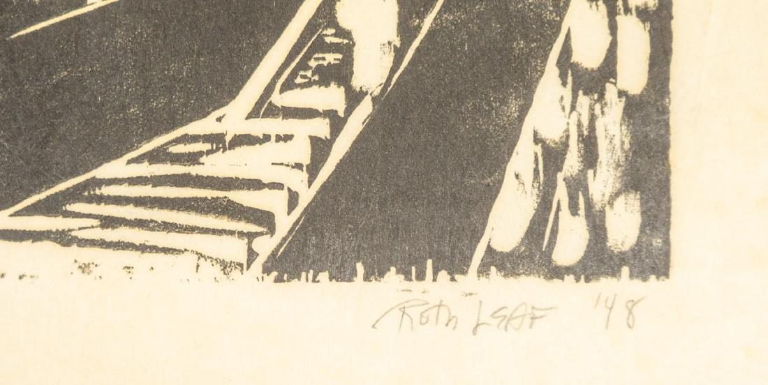 Ruth Leaf Original Woodcut - 4