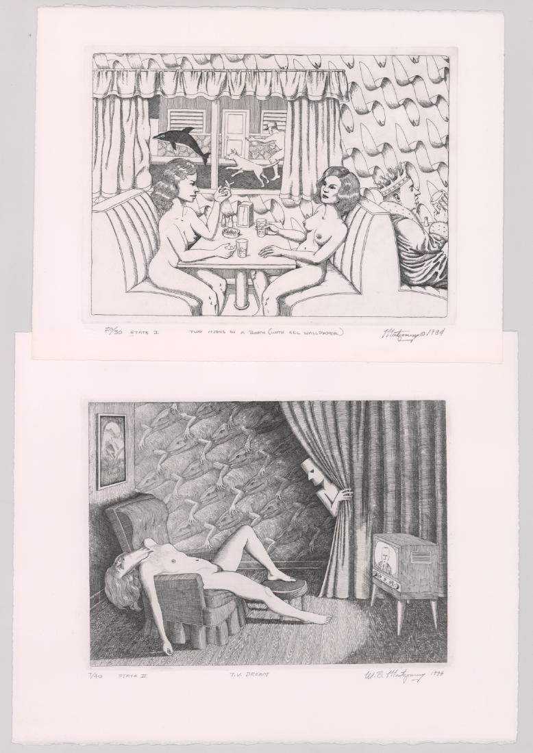 Two William B Montgomery Original Etchings