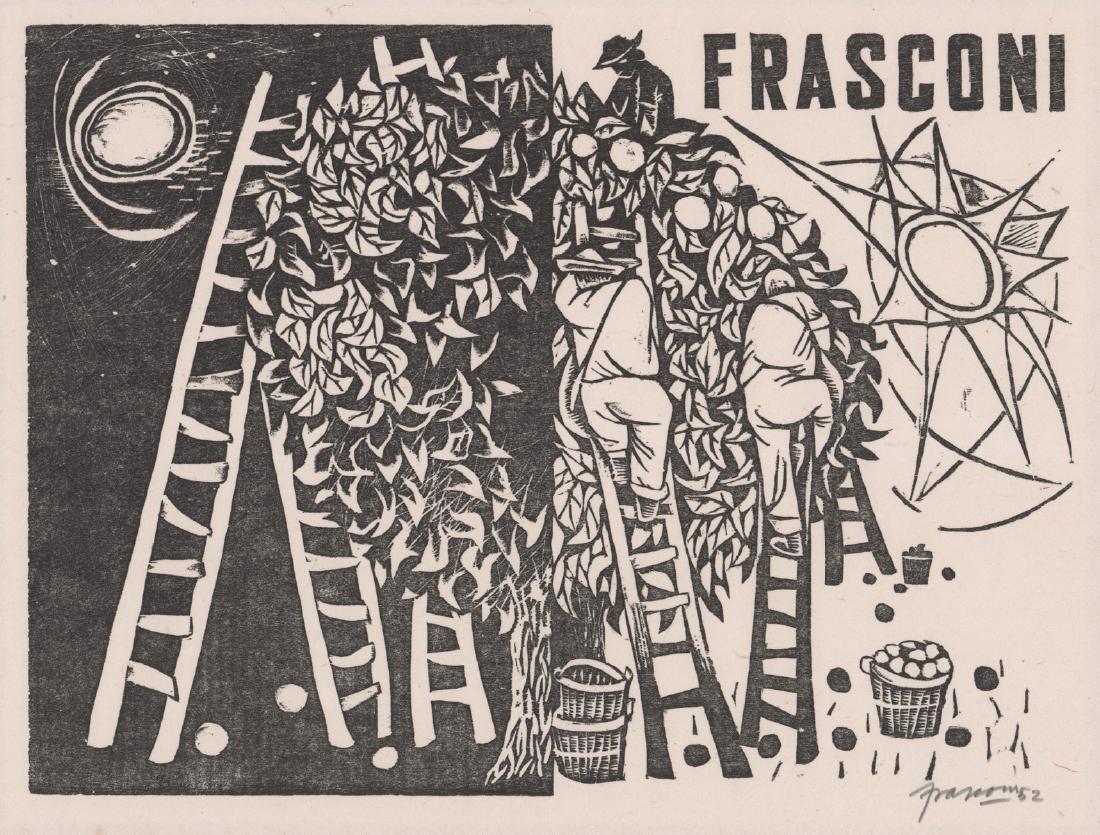 Antonio Frasconi Original Woodcut Print