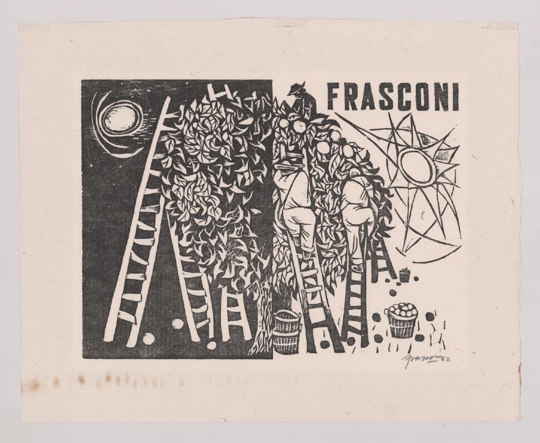 Antonio Frasconi Original Woodcut Print - 2