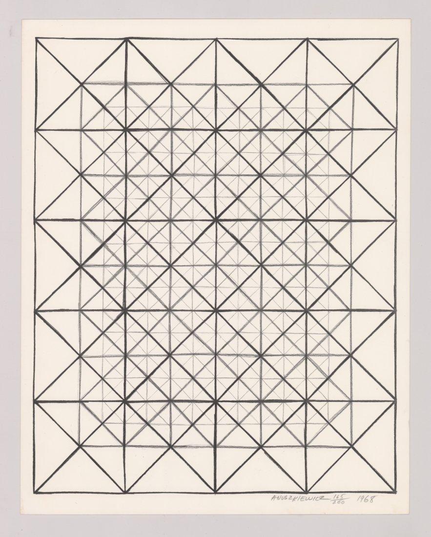 Richard Anuszkiewicz Original Lithograph