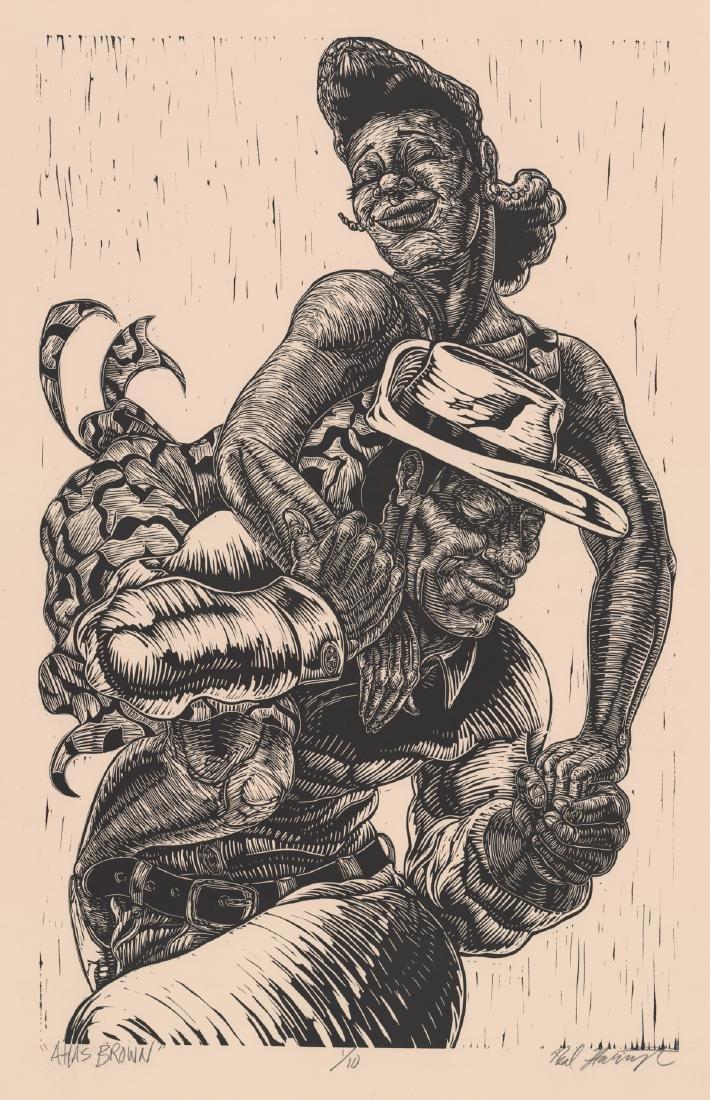 Neal Harrington Original Woodblock Print