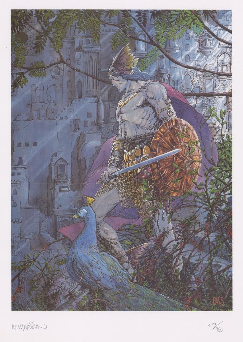 Barry Windsor-Smith Original Lithograph