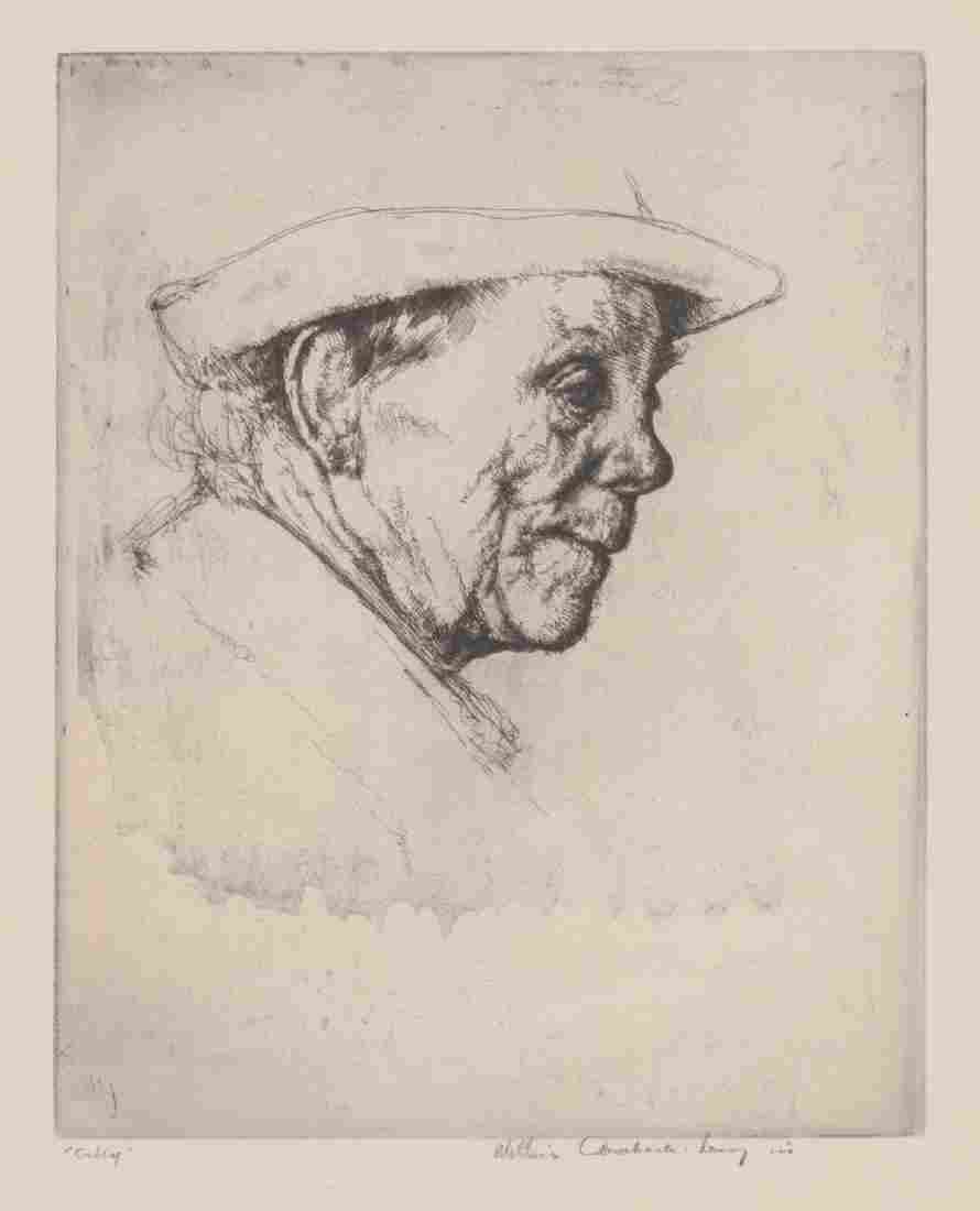 William Auerbach-Levy Signed Etching