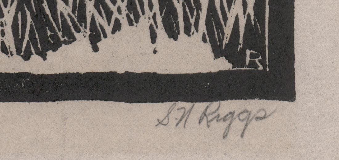 Sidney Noyes Riggs Signed Woodcut - 3