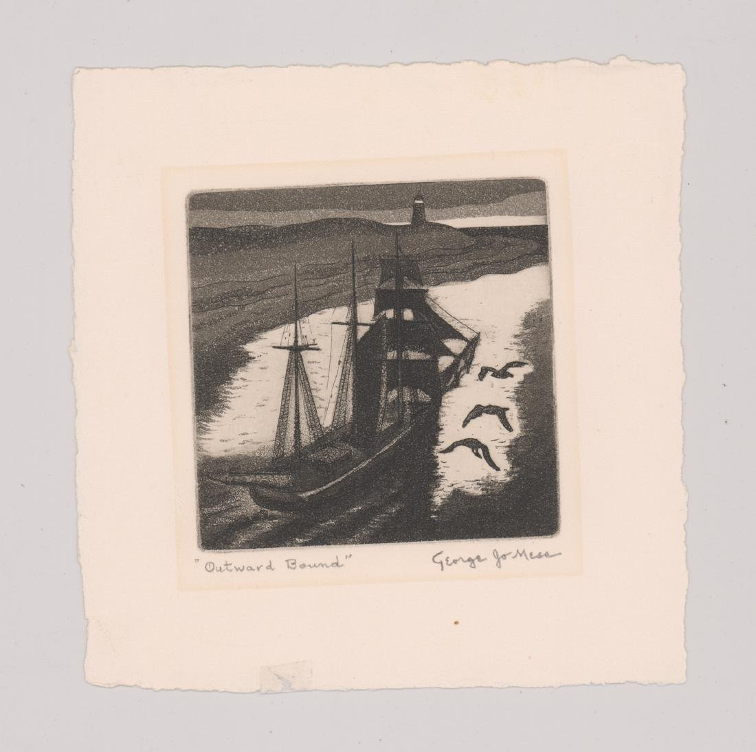 George Joseph Mess Signed Etching - 2