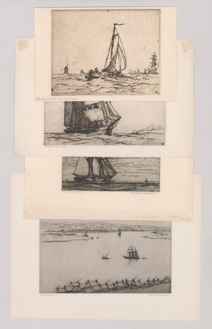 Nelson Dawson Group of Four Etchings