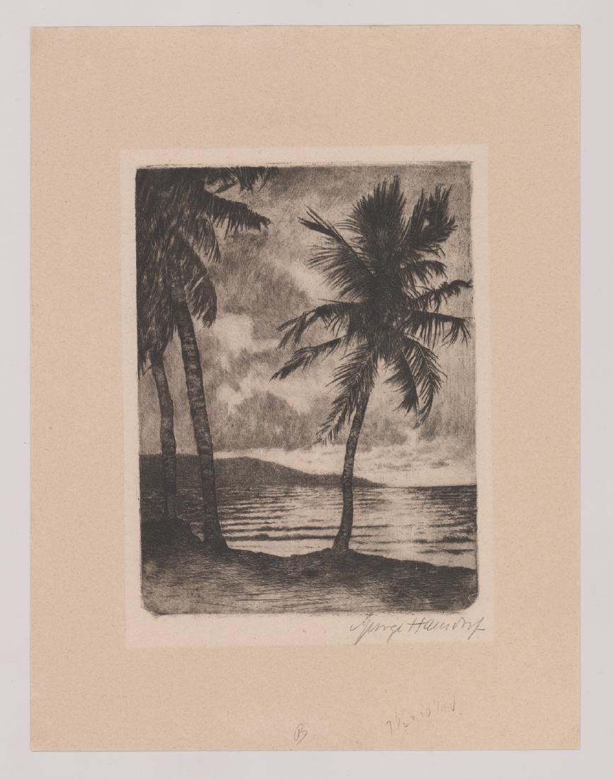 George Hausdorf Signed Etching - 2