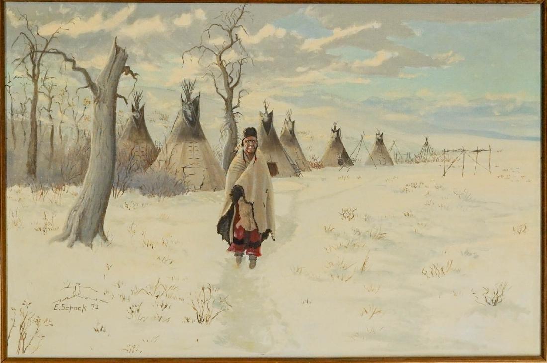 Elmer Schock Oil Painting