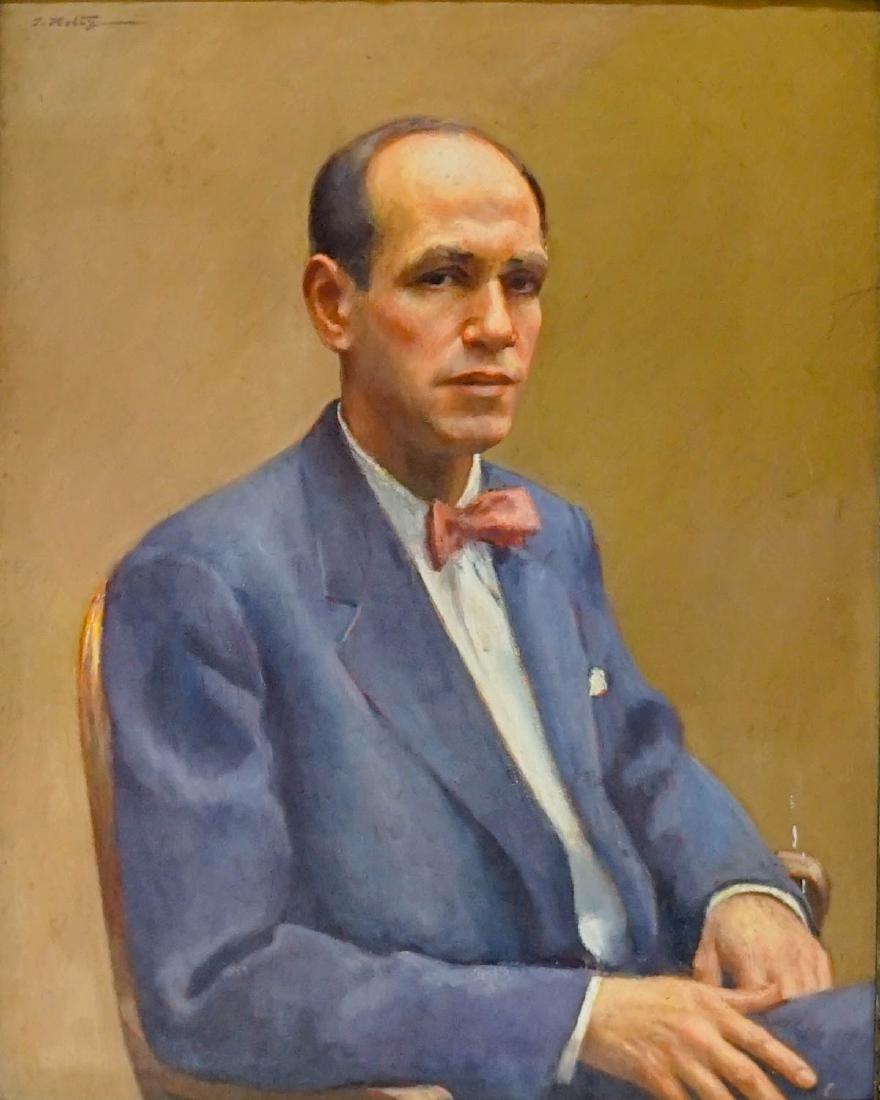 John Sloan Oil Painting Portrait by T. Holtz
