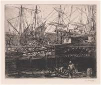 George Hand Wright Signed Etching