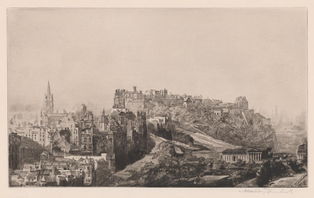 Andrew Watson Turnbull Signed Etching