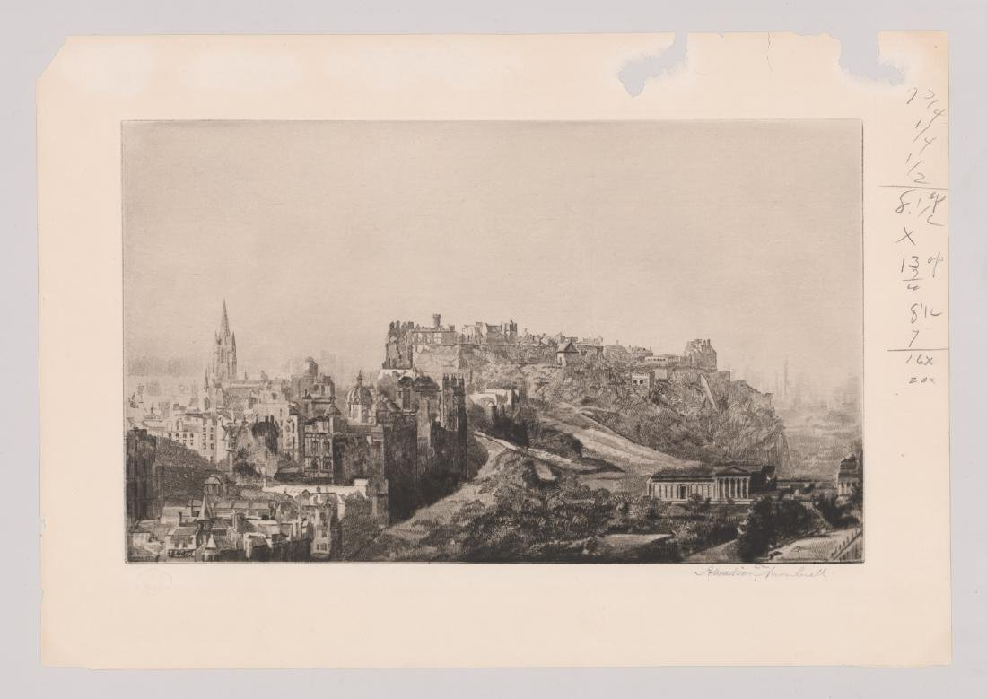 Andrew Watson Turnbull Signed Etching - 2