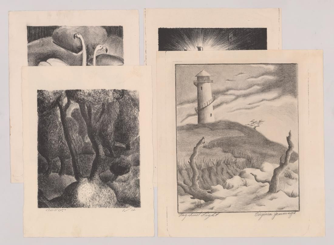 Four WPA Era Lithographs by Various Artists