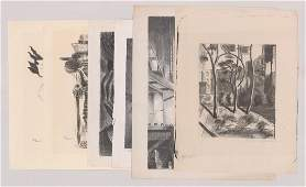 Group of Six WPA Era Lithographs Various Artists