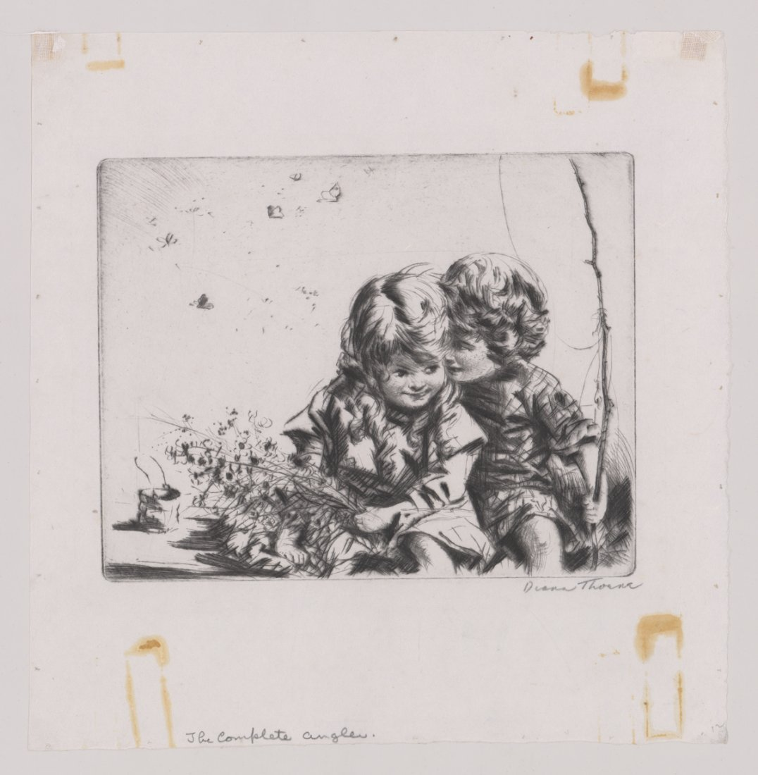 Diana Thorne Signed Etching - 2