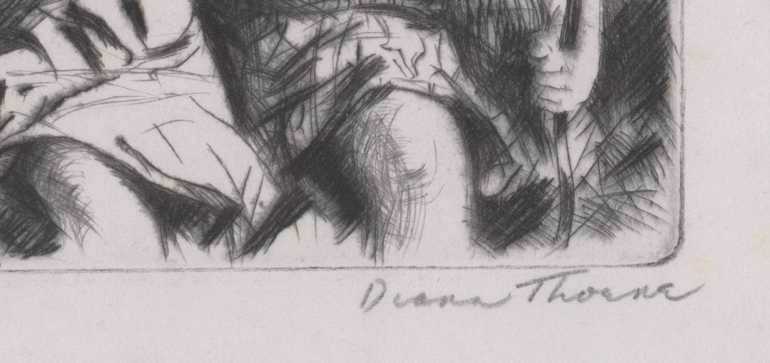 Diana Thorne Signed Etching - 3