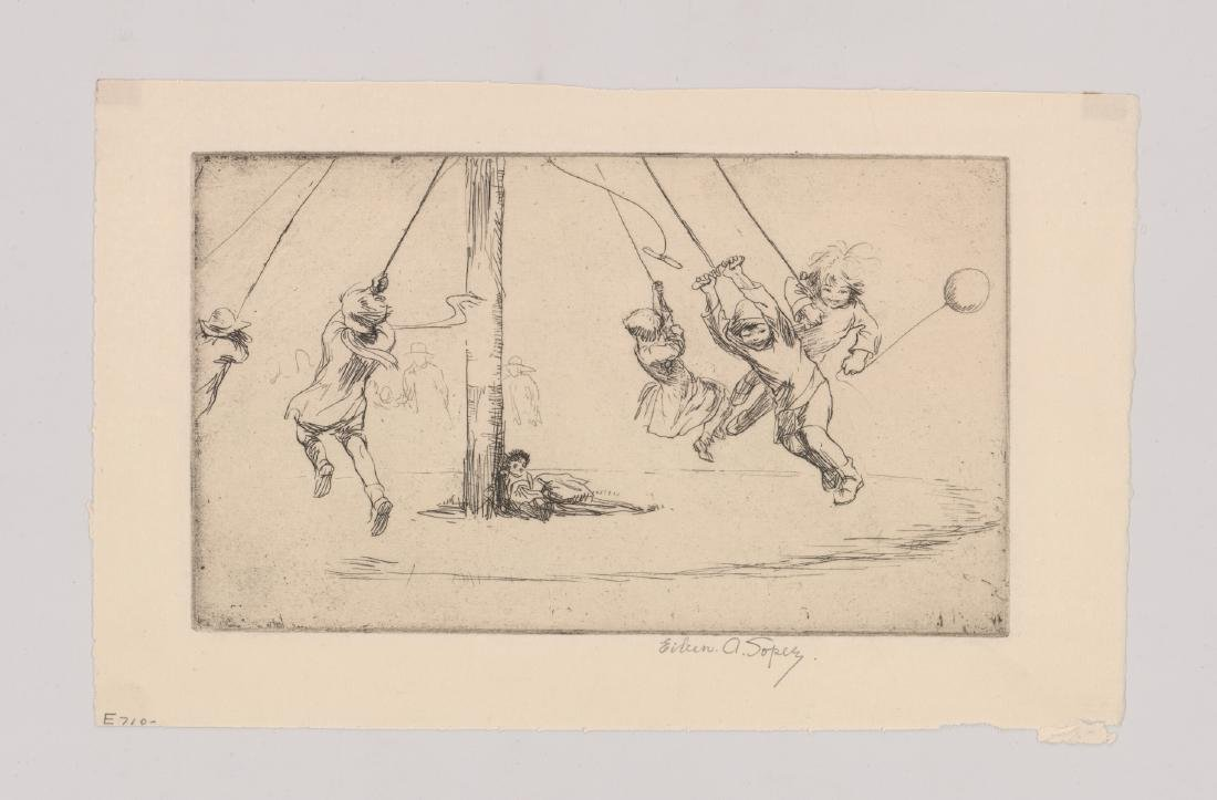 Eileen A. Soper Signed Etching - 2