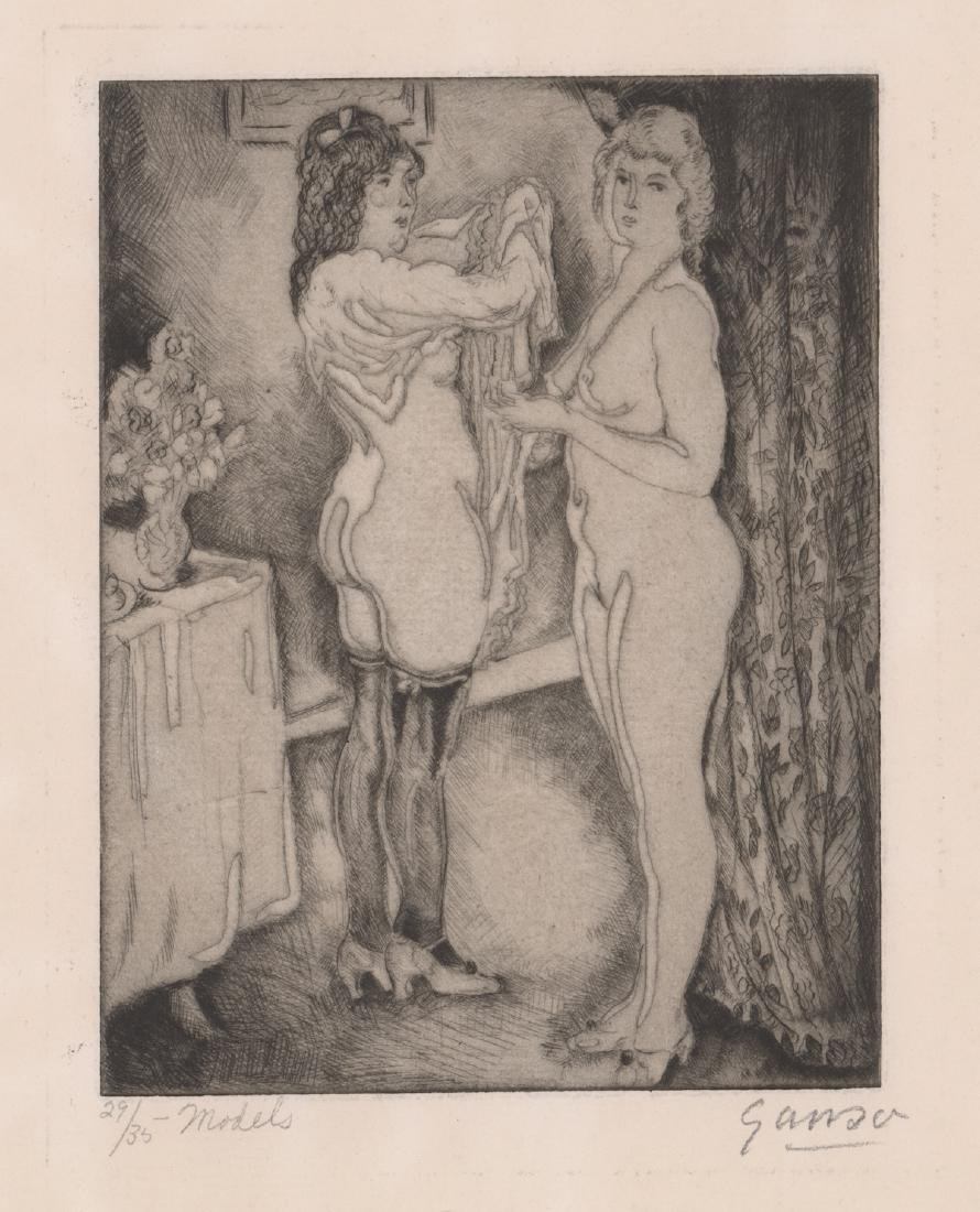 Emil Ganso Signed Etching