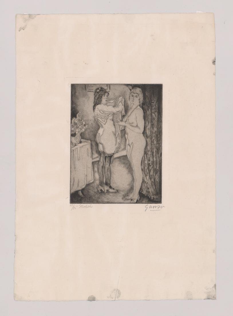 Emil Ganso Signed Etching - 2
