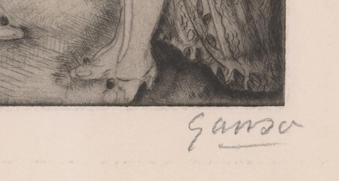 Emil Ganso Signed Etching - 3