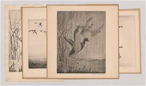 Paul H. Winchell (4) Signed Etchings
