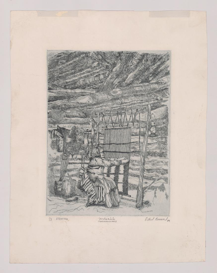 Edsel Brown Signed Etching - 2