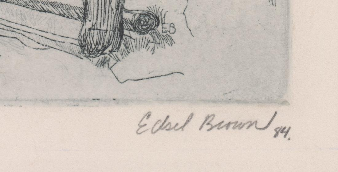 Edsel Brown Signed Etching - 3