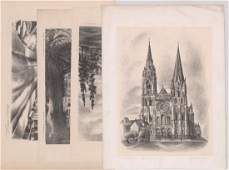 Group of Four Mildred Williams WPA Era Lithographs