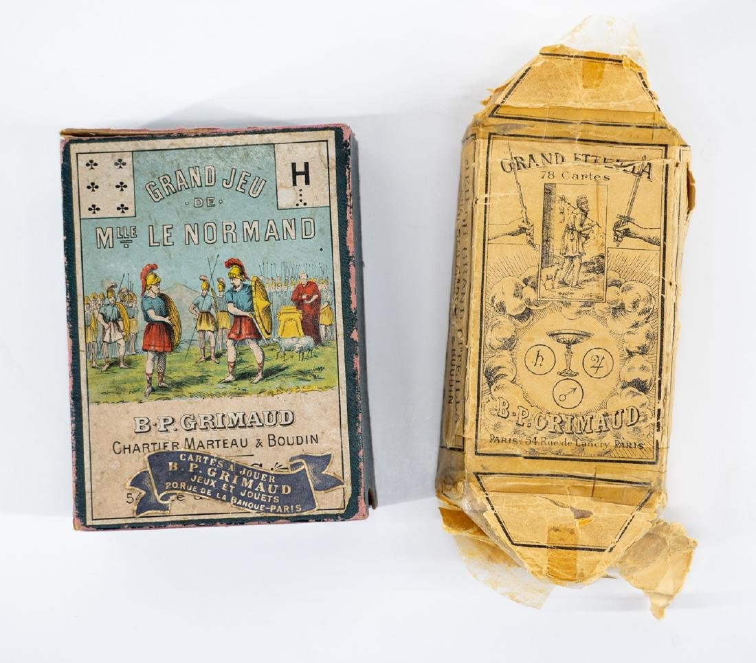 Two B  P  Grimaud Tarot Cards Paris c  1890-1900