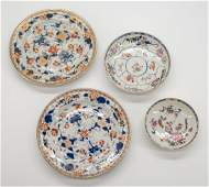 Chinese Imari Export Plates and Floral Dishes