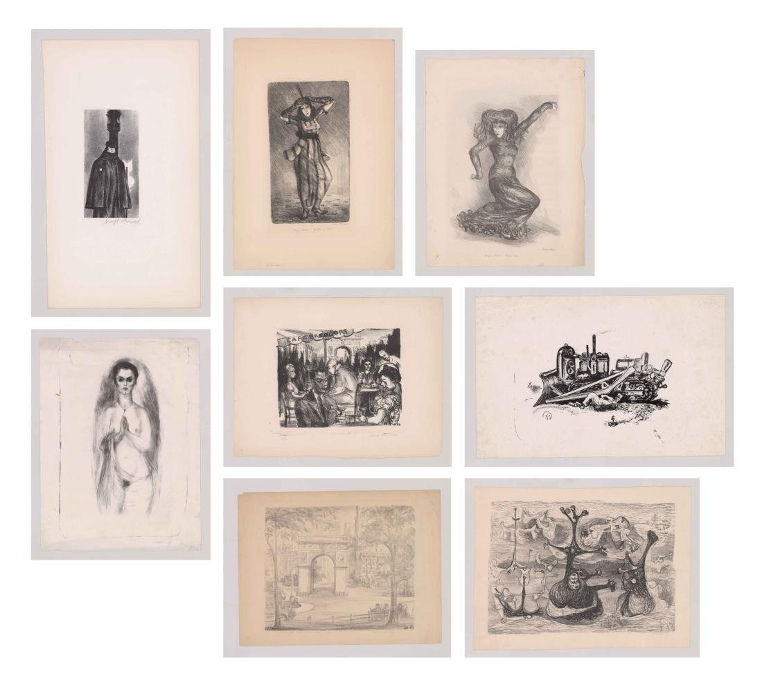 Eight Lithographs by Various Artists