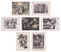 Eight WPA Era Lithographs by Various Artists
