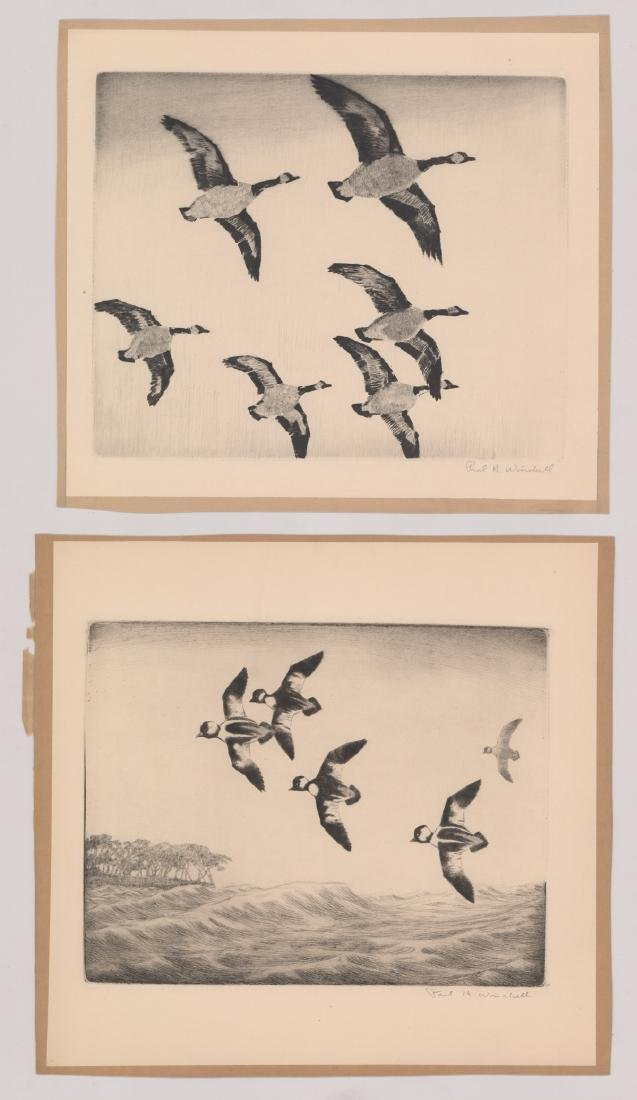 Six Paul H. Winchell Signed Etchings - 2