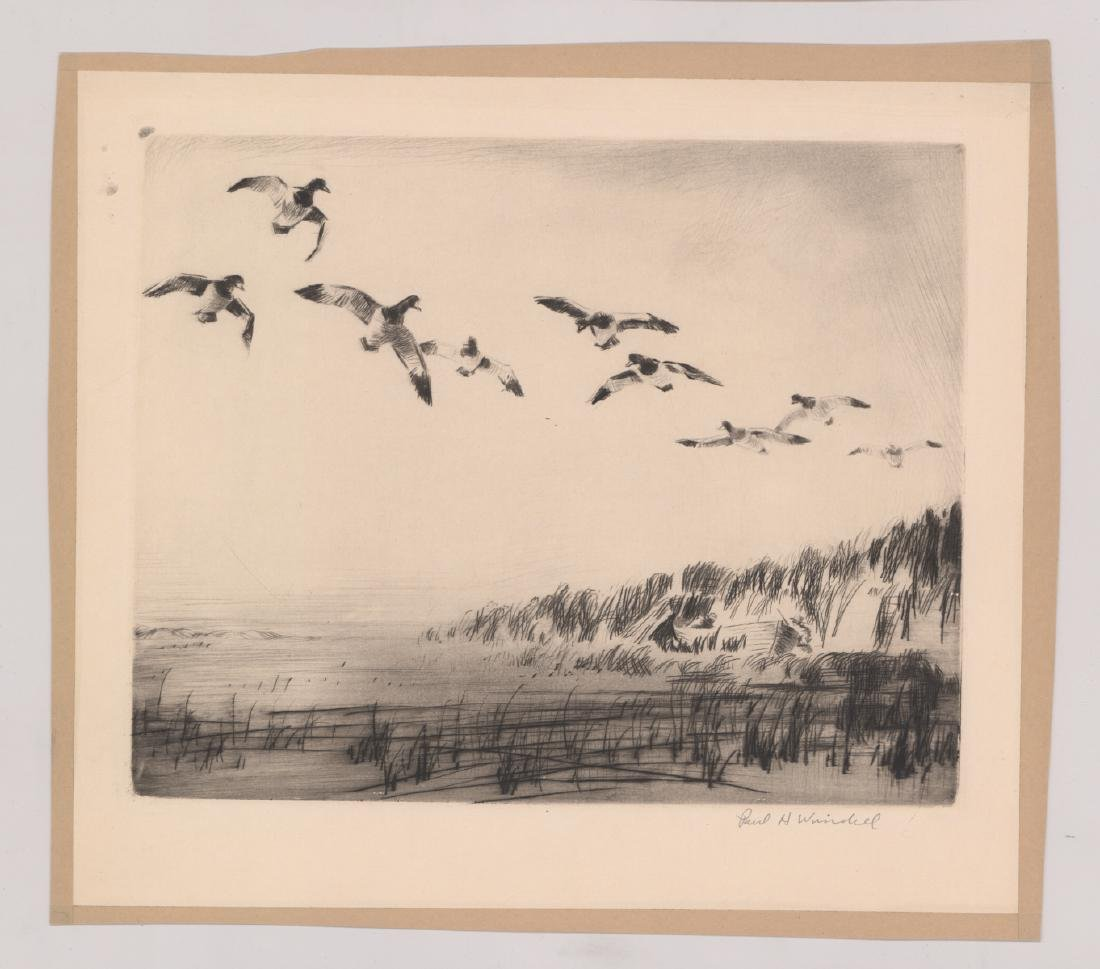 Six Paul H. Winchell Signed Etchings - 4
