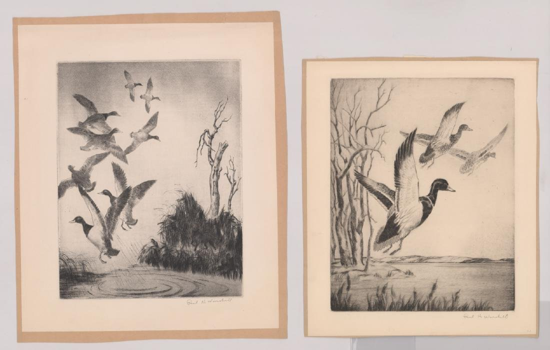 Six Paul H. Winchell Signed Etchings - 5