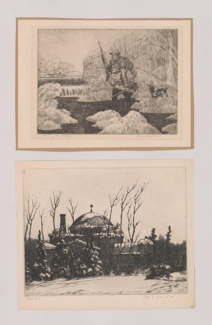 Seven Paul H. Winchell Signed Etchings - 2
