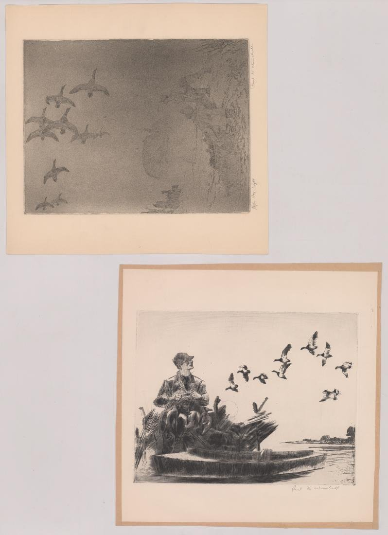 Seven Paul H. Winchell Signed Etchings - 3
