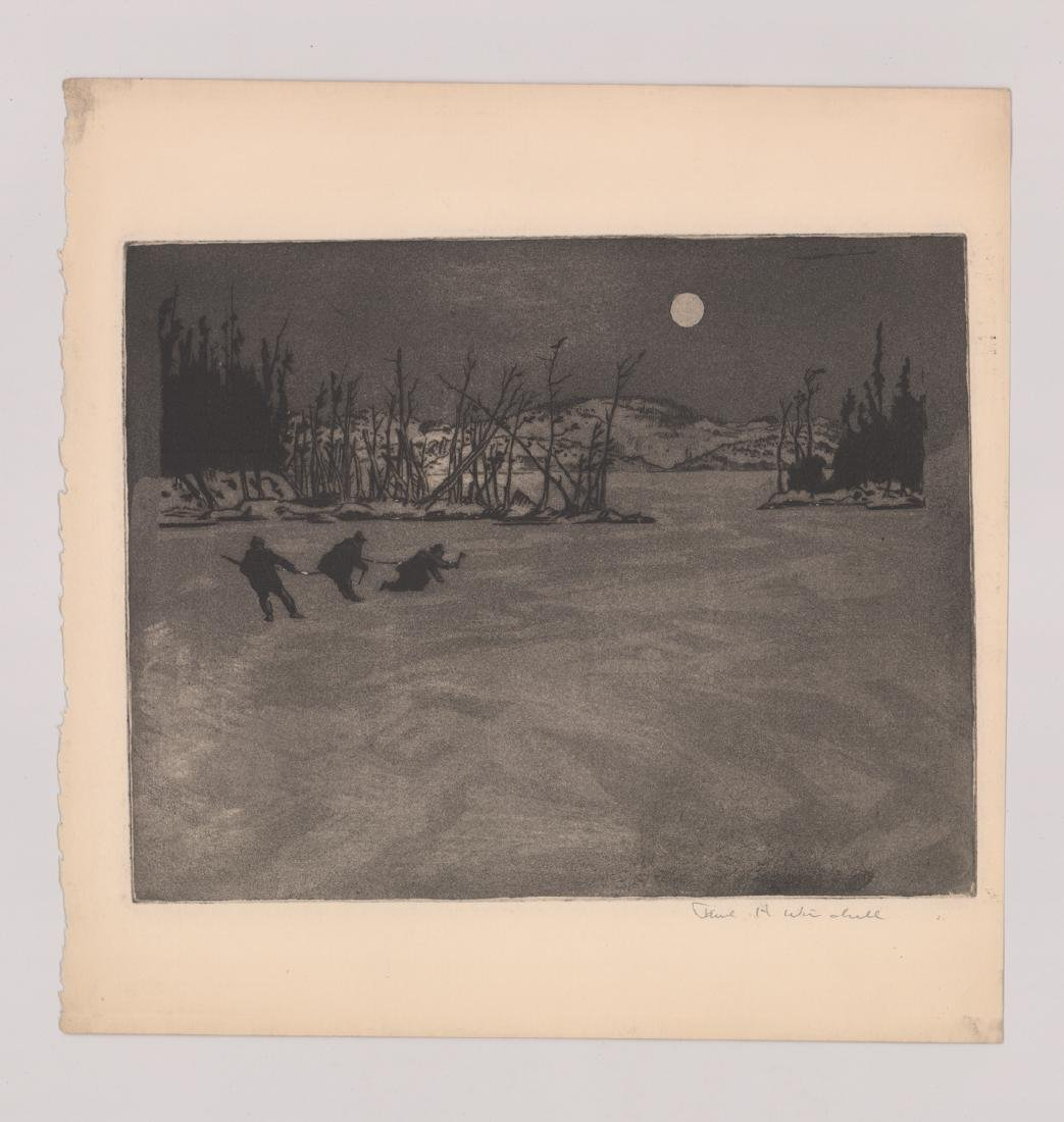 Seven Paul H. Winchell Signed Etchings - 4
