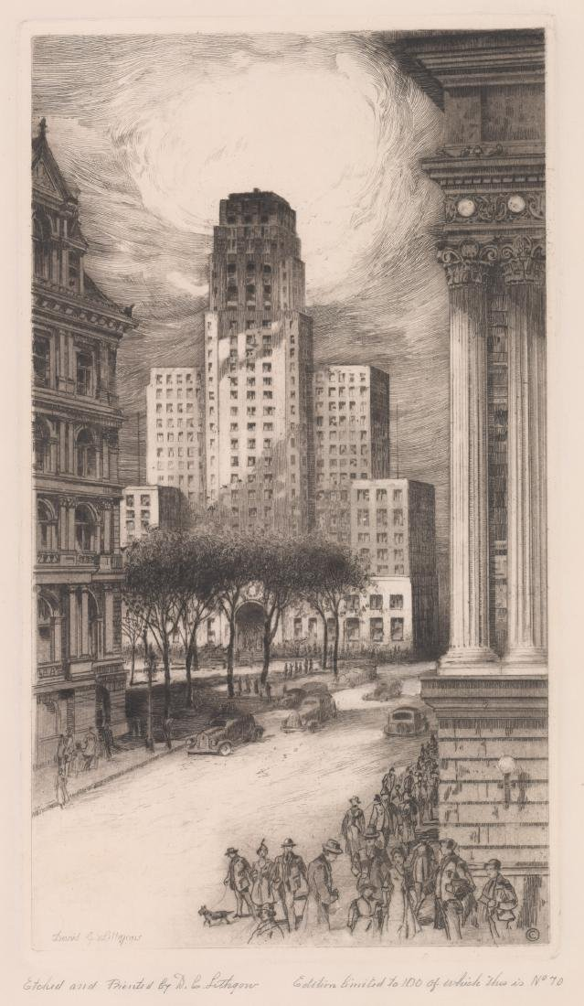 David Cunningham Lithgow Signed Etching