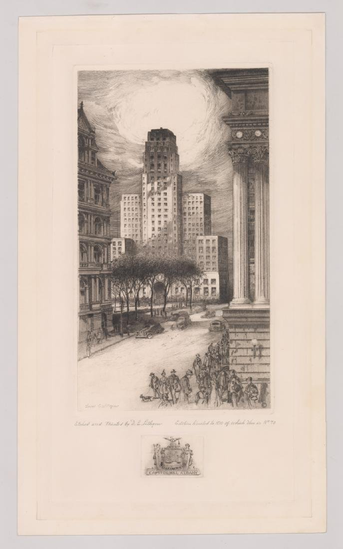 David Cunningham Lithgow Signed Etching - 2